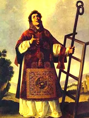 Imagen de San Lorenzo con la Parrilla en la Mano