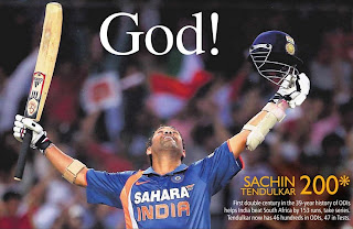 Sachin tendulkar double hundred ODI 200 south africa
