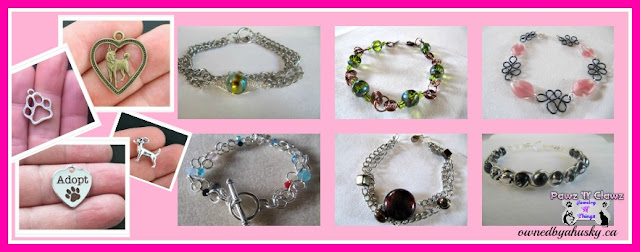 Beautiful Handmade Jewelry with added pet charms