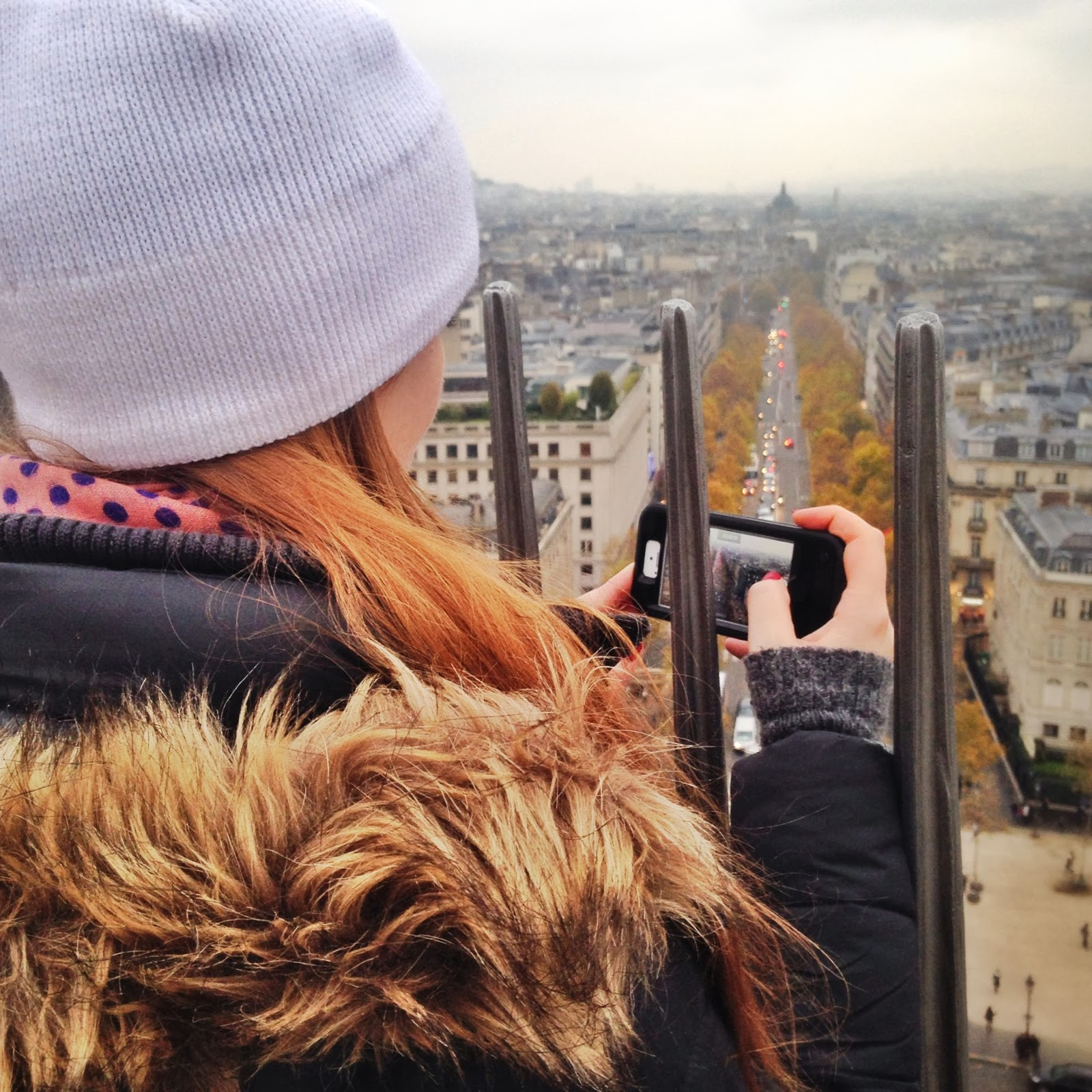 Photos from the top of the Arc de triomphe in paris