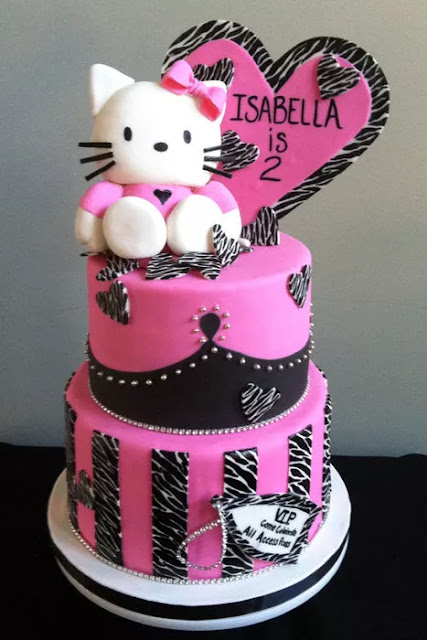 Tarta Original de Hello Kitty Cebra.