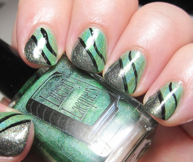 Green Gables holo with Absinthe Makes the Heart diagonal tip