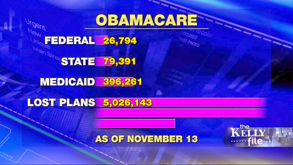 OBAMACARE STATS - MEGYN KELLY - 11/13/13