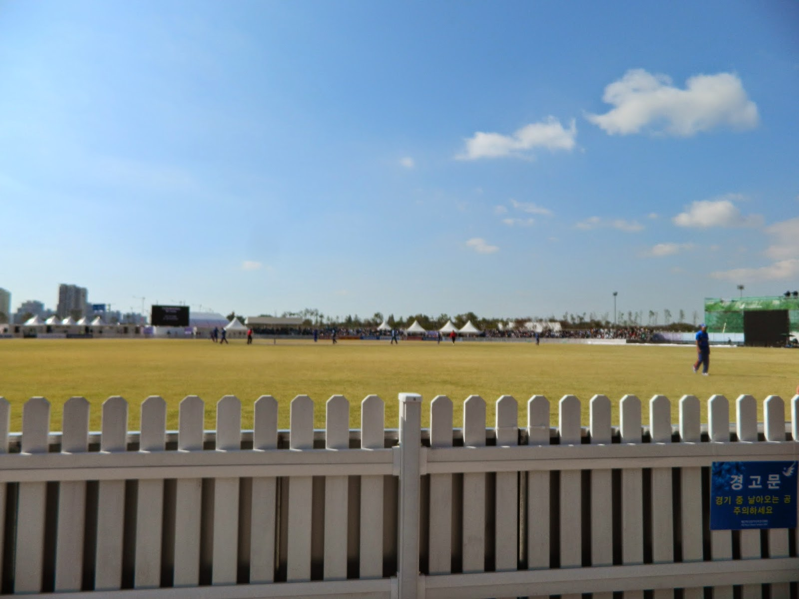 The cricket stadium