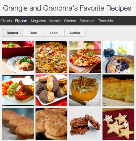 Grangie and Grandmas Favorite Recipes