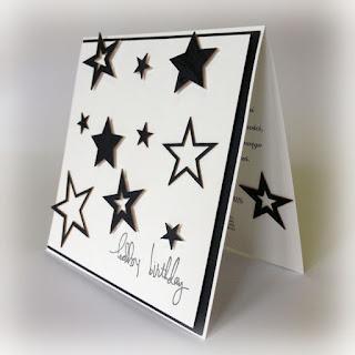 czarno-biała prosta kartka urodzinowa do kompletu na zamowienie schaffar