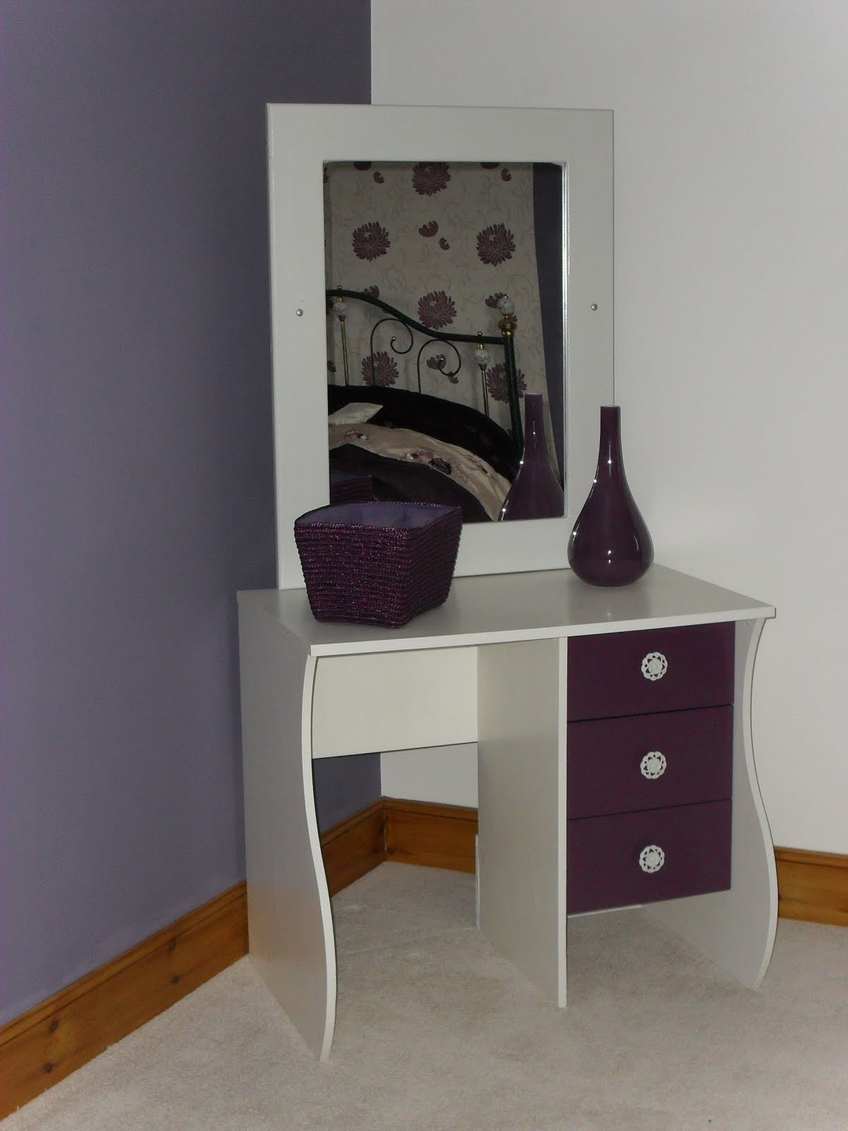 vanity table no mirror. And I love it  despite looking a bit like dolls house furniture Coach House Crafting on budget Furniture makeover Computer