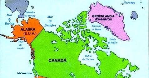 Amrica del Norte Localizacin Geogrfica Pases  Mundo Geografa