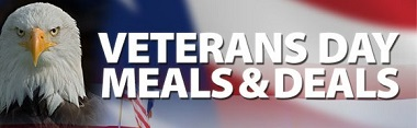 Veterans Day 2017 Meals, Freebies, Deals, Discounts, Coupon Codes