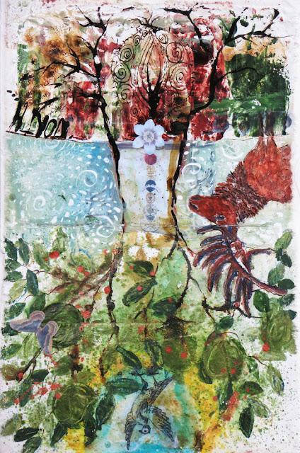 Art journal, mixed media, sacred space, Galia Alena