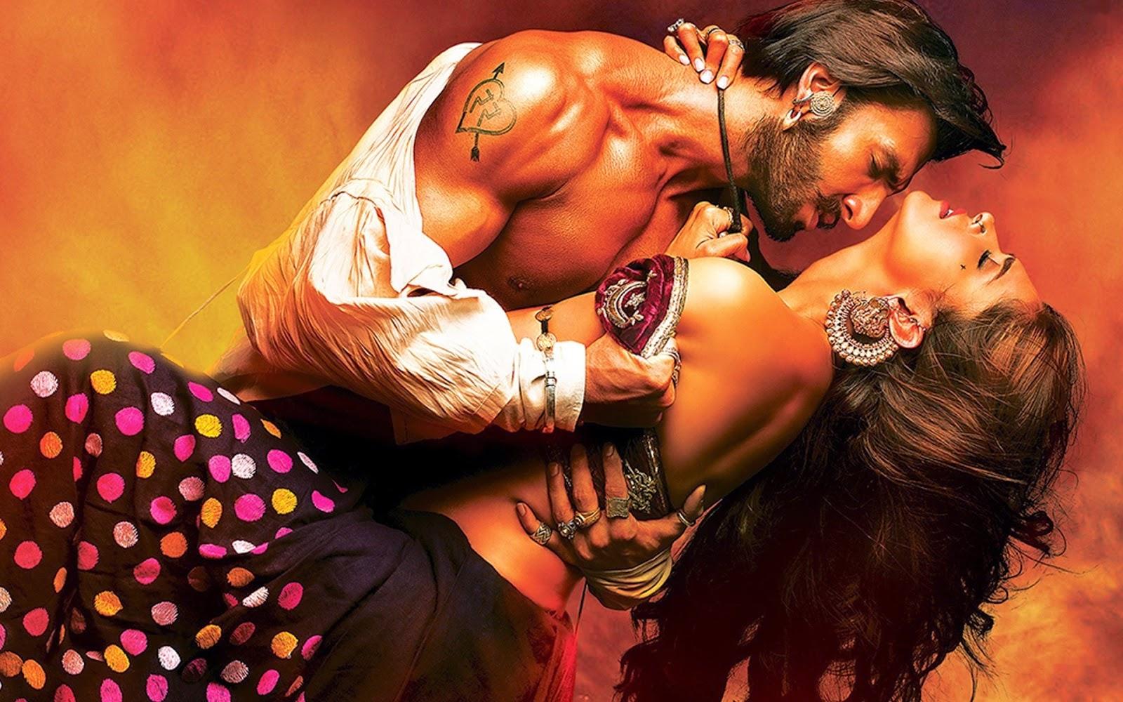Hot Deepika Padukone and Ranvir Singh from Ramleela Movie