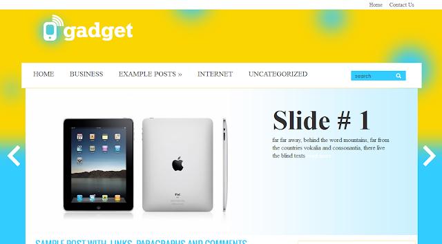 Gadget Yellow Magazine Blogger Template