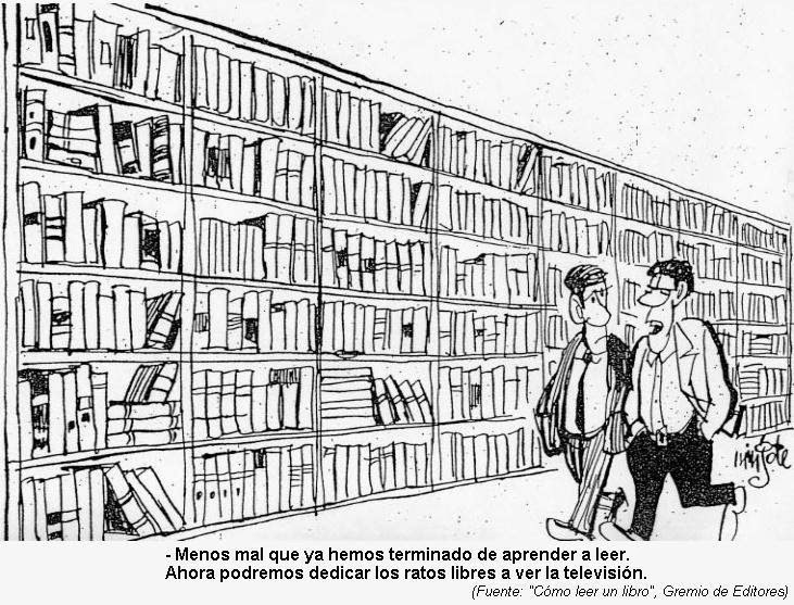 Viñeta de libros vs. TV