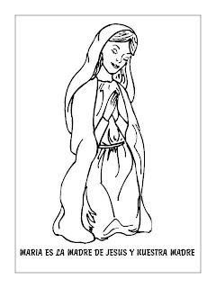 Dibujo de maria dibujos infantiles imagenes cristianas - Dibujos de pared para ninos ...