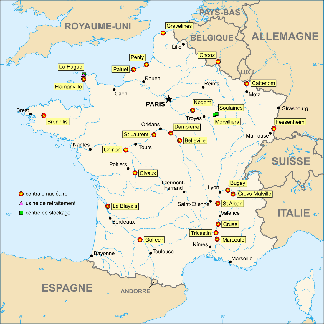 france s nuclear history dates back to the 1890 s with pierre and marie curie but the roll out on nuclear power came about in 1973 during the oil crisis