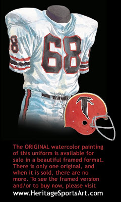 Atlanta Falcons 1968 uniform