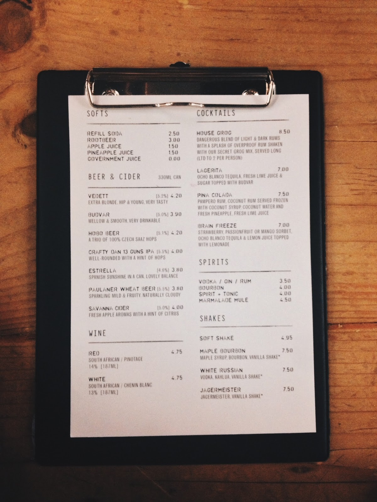 meat market menu