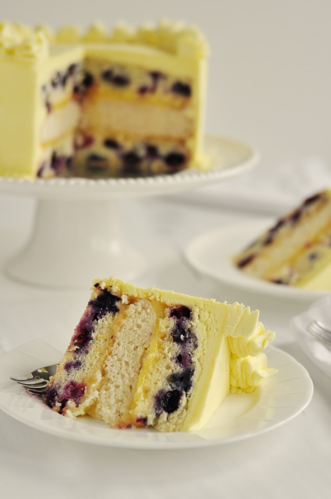 Life On The Go With NOLA Girl!: Triple Lemon Blueberry Layer Cake