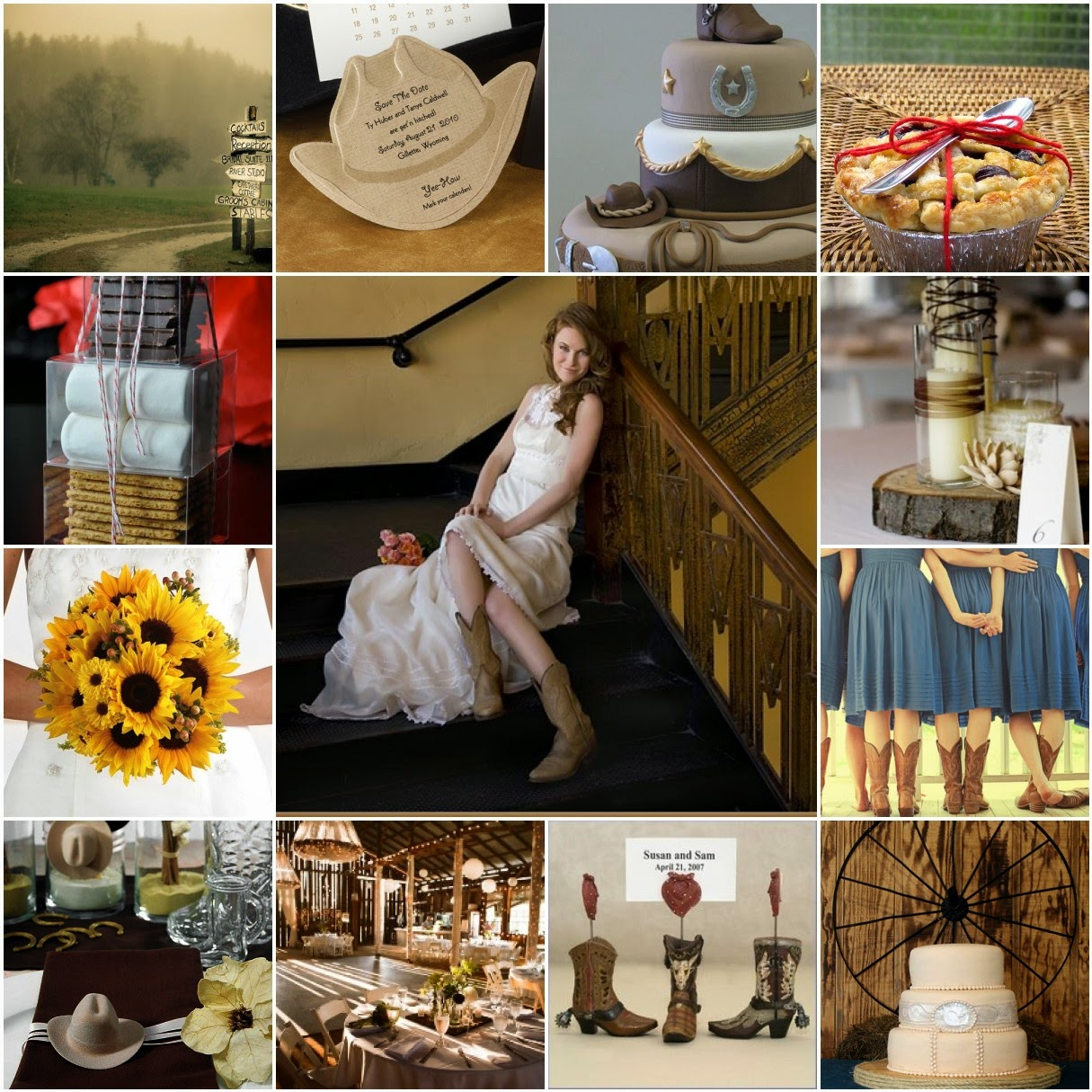 Bling Brides Country Weddings Yee Haw Country Centerpieces
