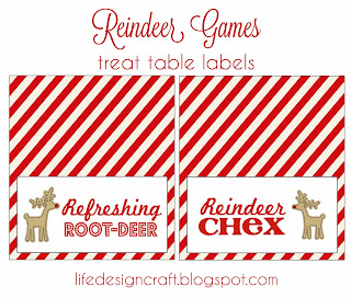 Reindeer Games Food Labels