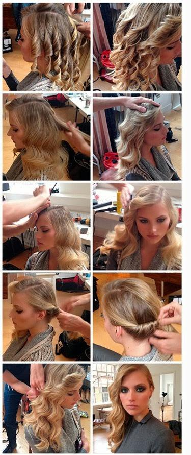 Pentenado cabelo ondulado chique de lado Taylor Swift