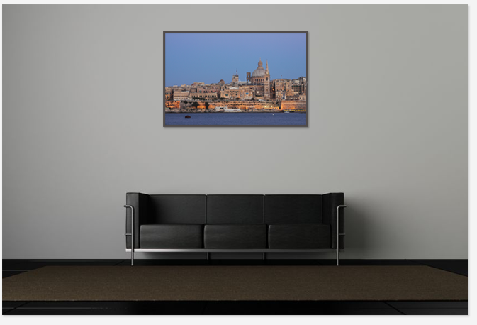 Interior with Art photo,Malta,decoration with travel picture,print photo