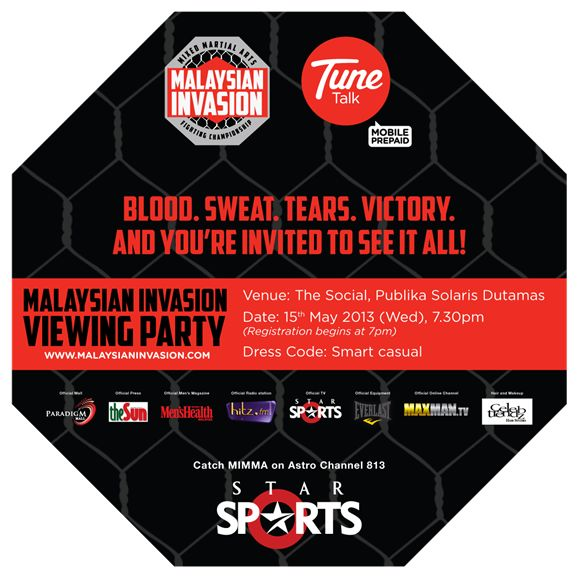 An invitation to catch the first programme lineup of Malaysian Invasion