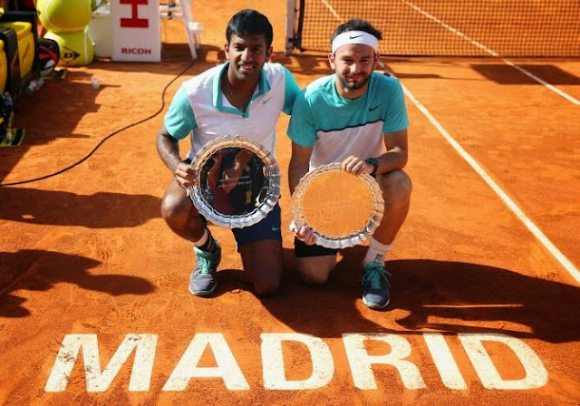 Rohan Bopanna-Florin Mergea win Madrid Open doubles title