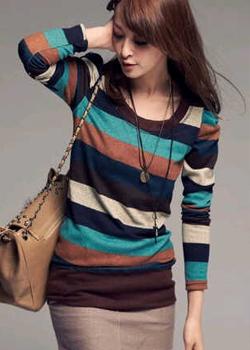 trend koleksi desain baju rajut murah korea style sangat modis buat cewek