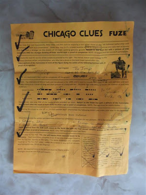 great urban race clue sheet, chicago