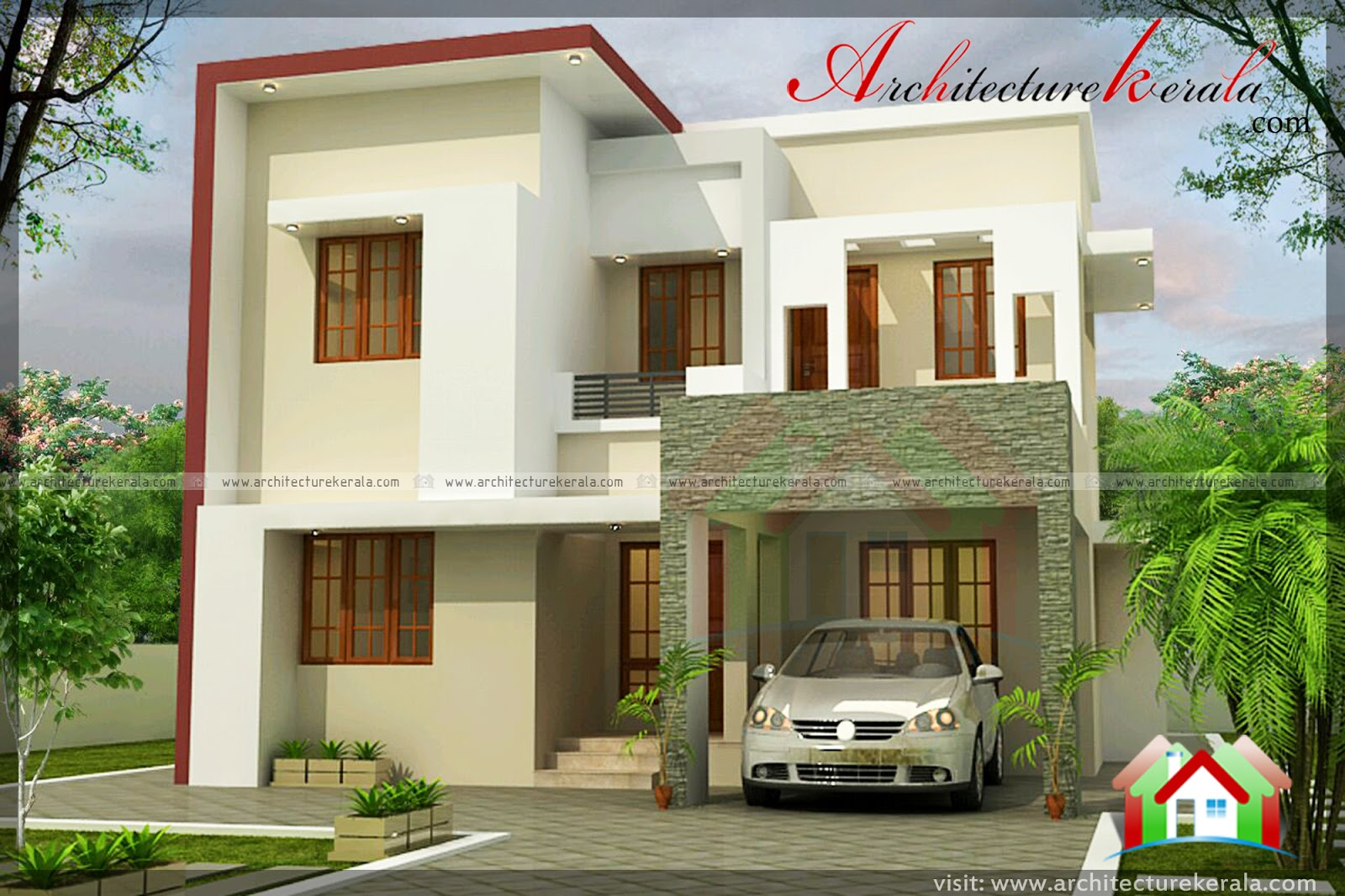 1800 square feet house plan and elevation architecture for Architecture design kerala house