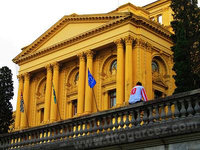 Detalhe da fachada frontal do Museu Paulista (ou Museu do Ipiranga), em São Paulo - Por Tito Garcez