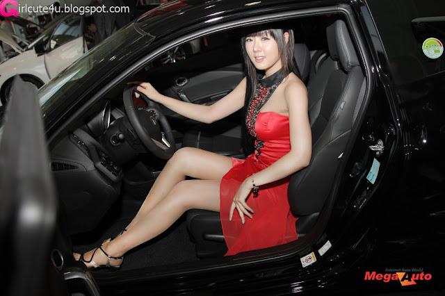 7 Hwang Mi Hee with New Honda's Hybrid CR-Z-very cute asian girl-girlcute4u.blogspot.com