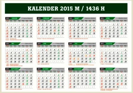 Download Kalender 2015 M - 1436 Hijriyah Cdr