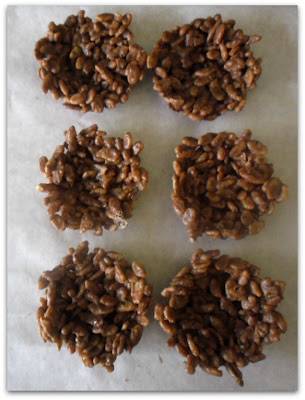 Chocolate Krispie Nests for Easter treats www.withablast.net