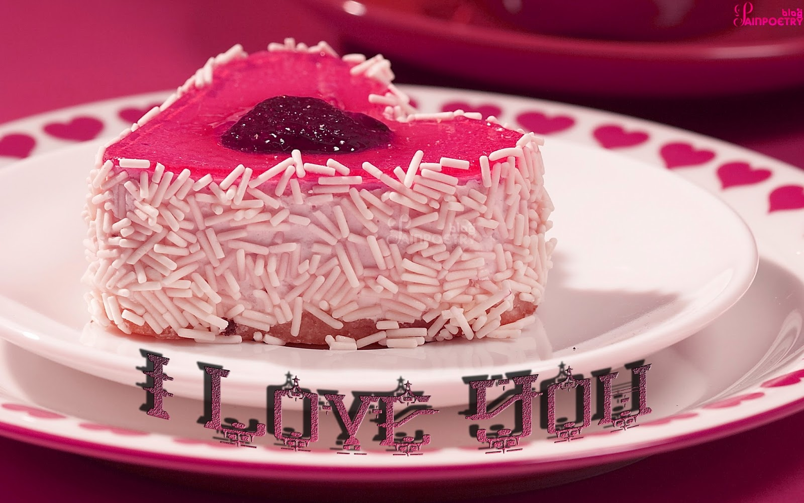 Love-Wallpaper-With-A-Cake-Heart-Shaped-Image-HD