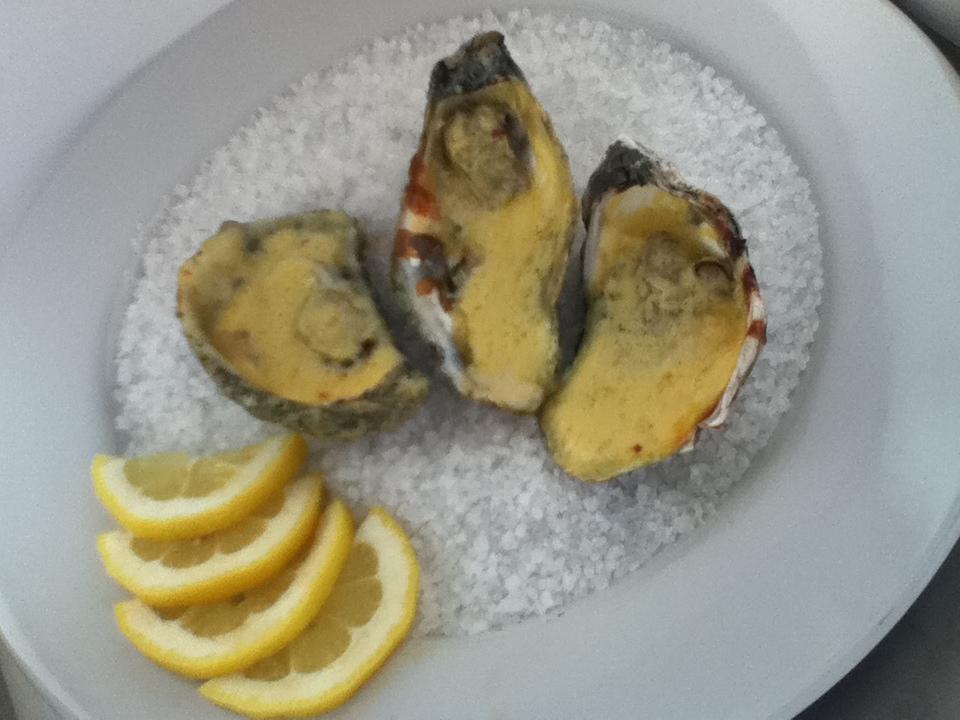 Recetario de cocina profesional ostras al horno for Cocinar ostras