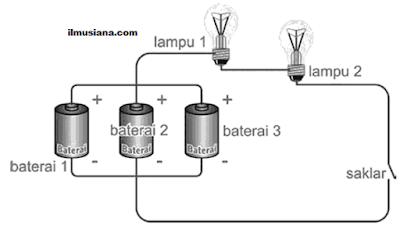 baterai yang disusun paralel