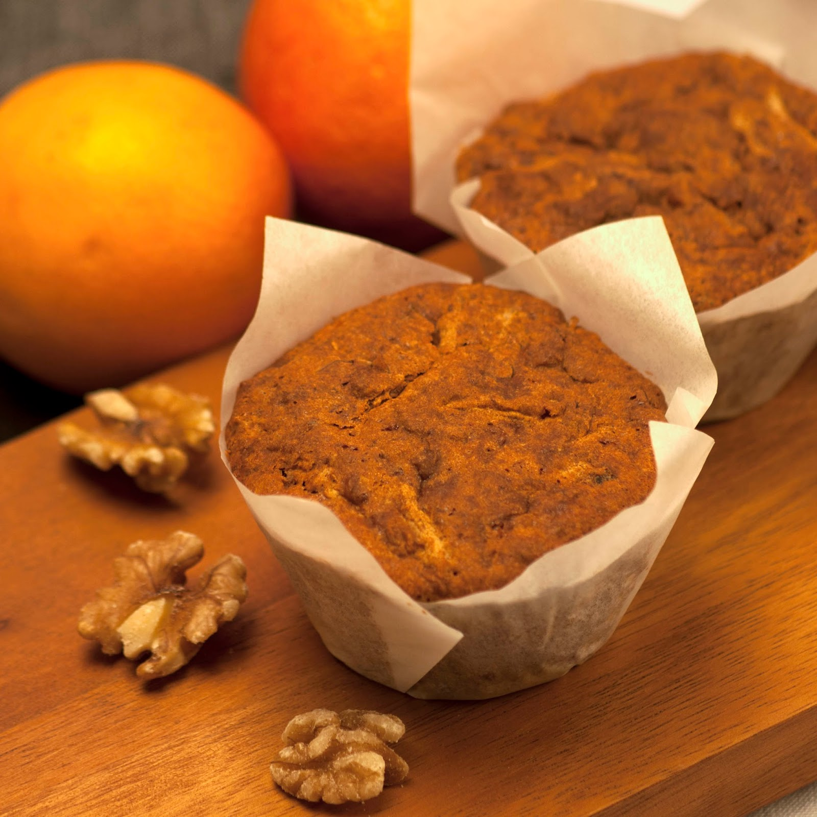 Carrot and Walnut Muffins