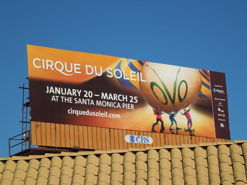 Ovo Cirque du Soleil billboard