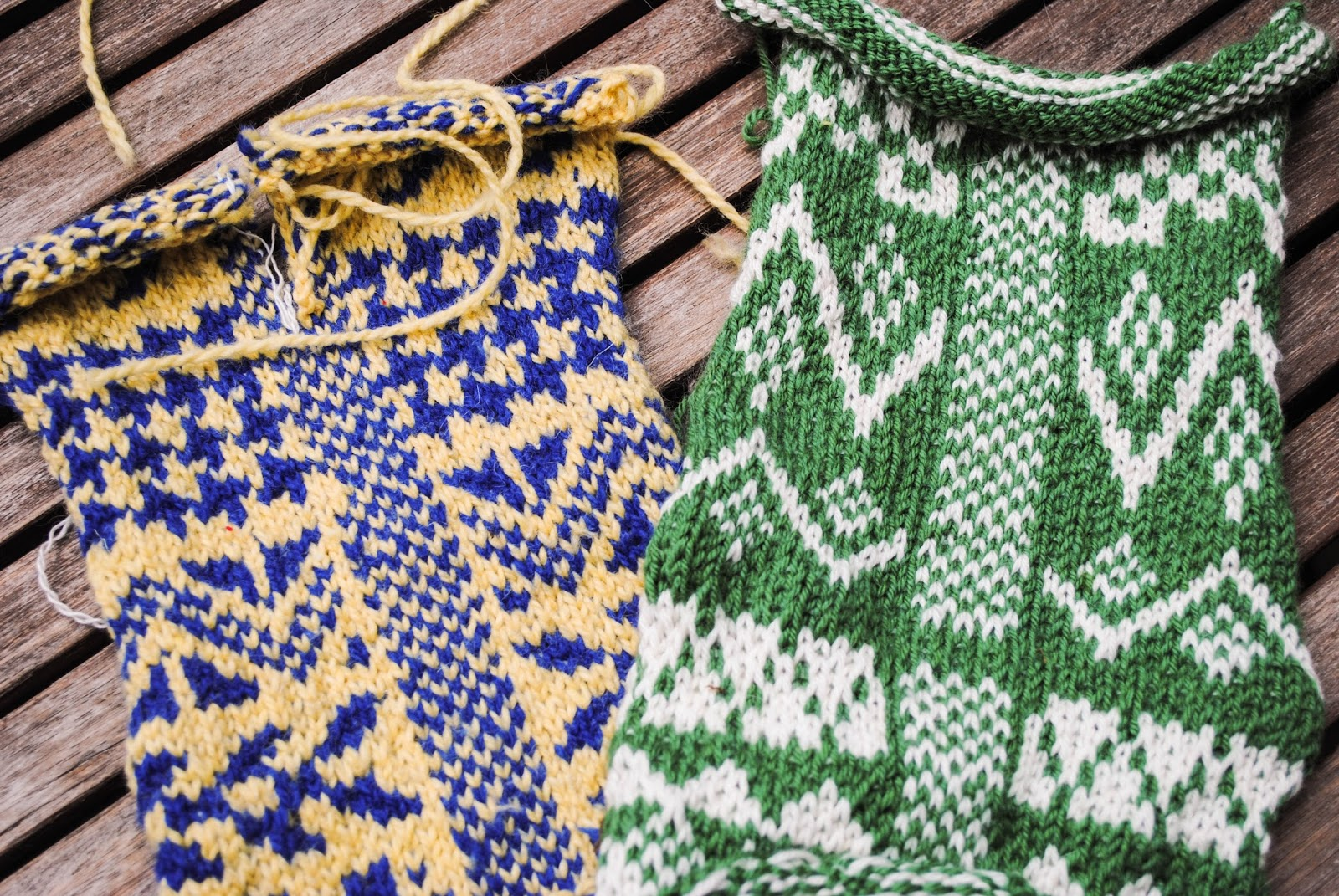cats & quilts: Fair Isle Knitting