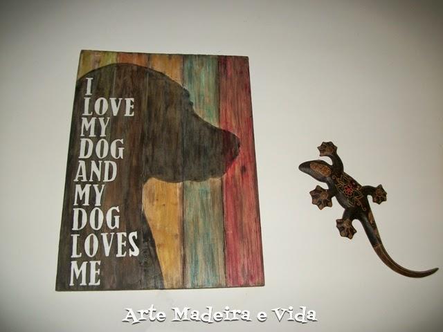 placa rústica - dog