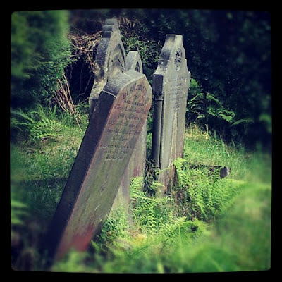 Hillside cemetery in Hebden Bridge