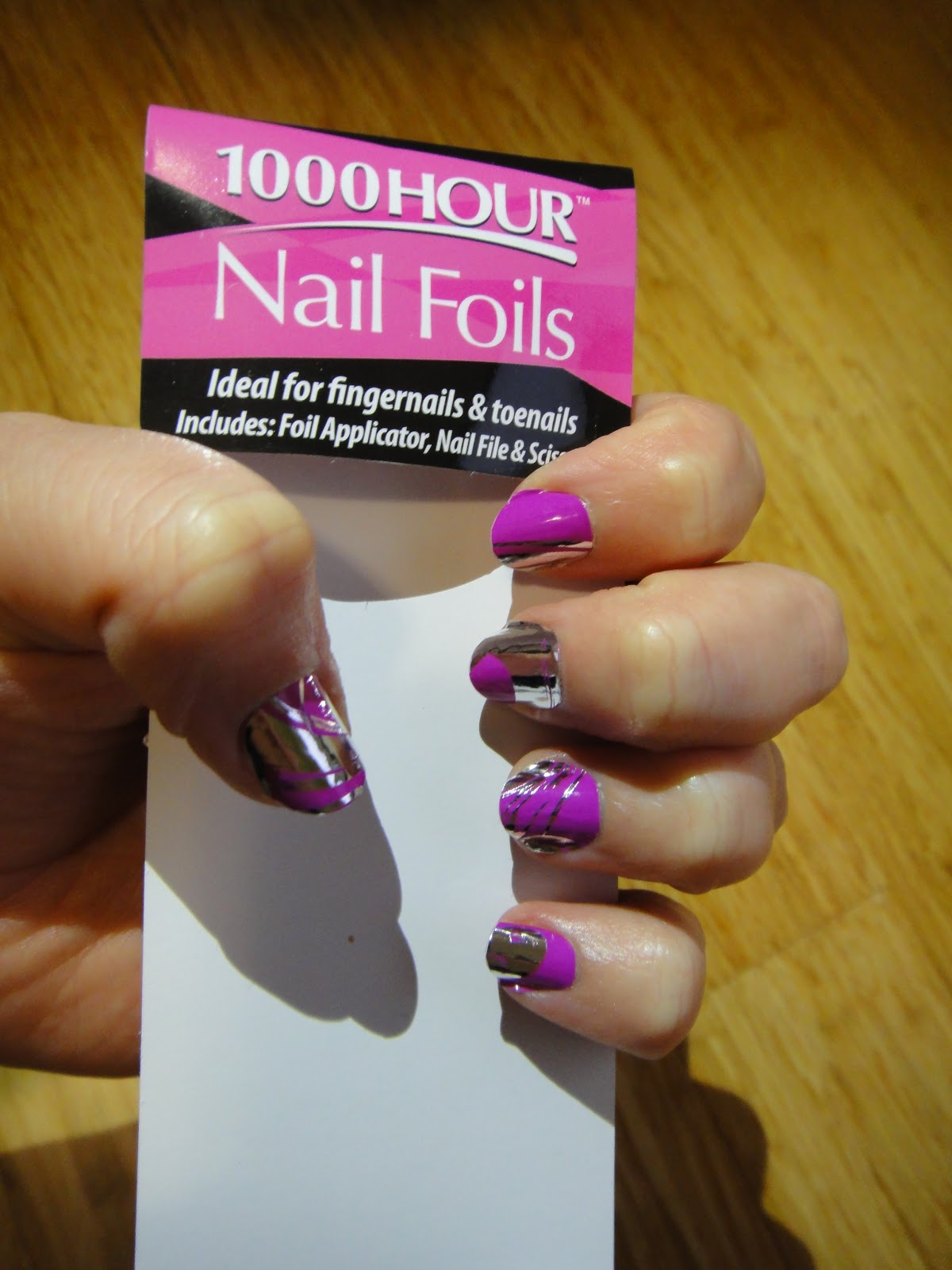 Sophie\'s Maze: NOTD: 1000 Hour Nail Foils in Pink Swirl