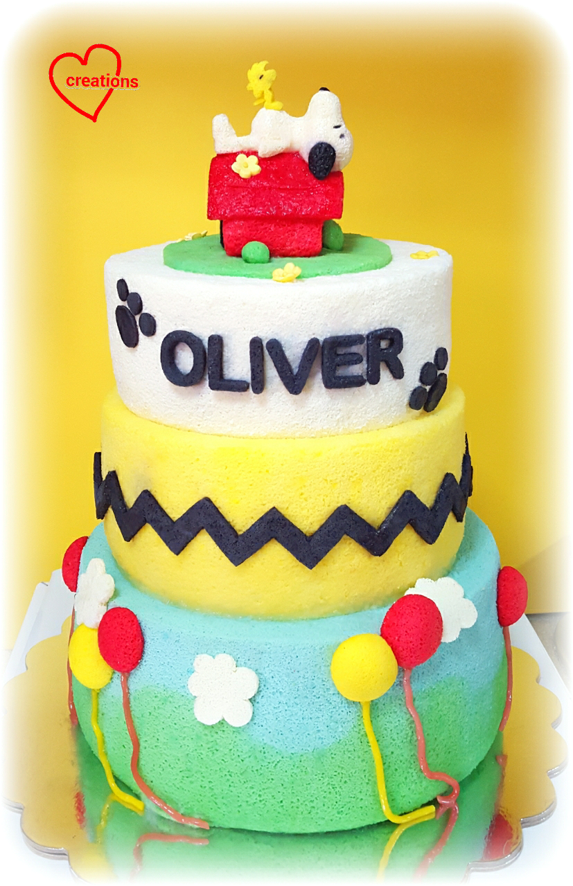 Loving Creations For You Snoopy And Woodstock Peanuts Themed Tier