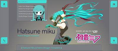 Hatsune Miku Free Blogger Templates
