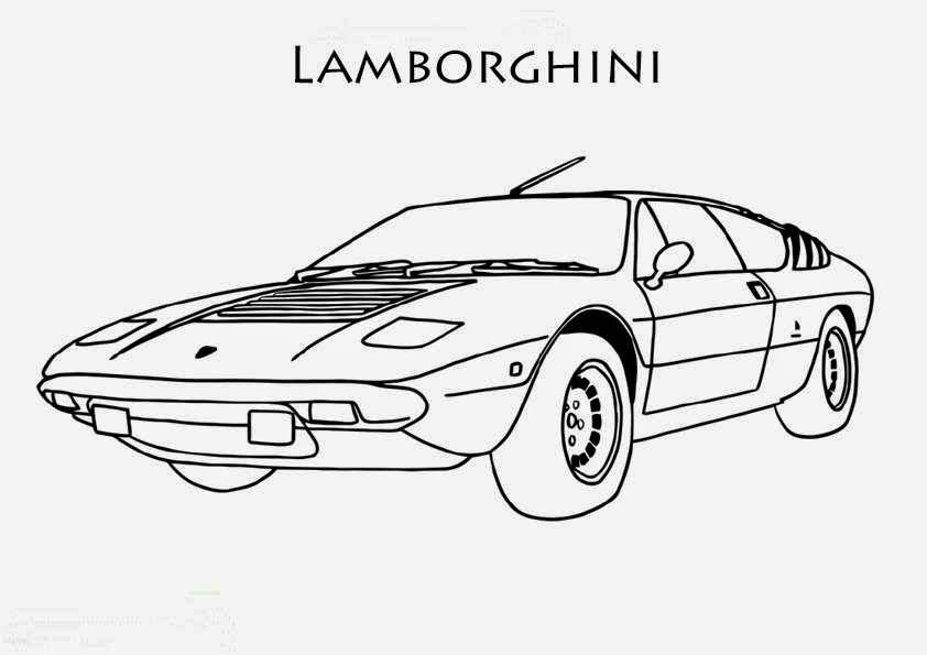 coloriage de voiture de course lamborghini coloriage voiture. Black Bedroom Furniture Sets. Home Design Ideas