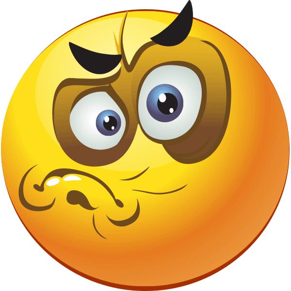 Grumpy smiley facebook symbols and chat emoticons