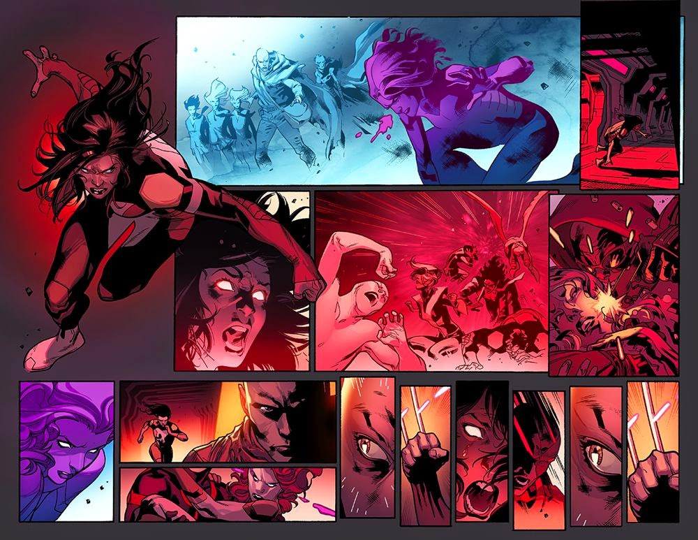 all new x-men 29 battle scene with x-23