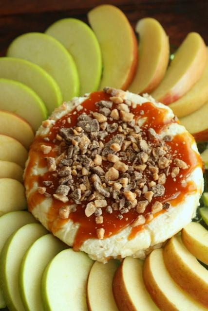 Half Baked Caramel Cheesecake Apple Dip